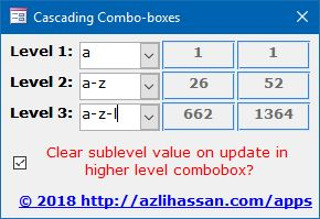 Cascading Comboboxes