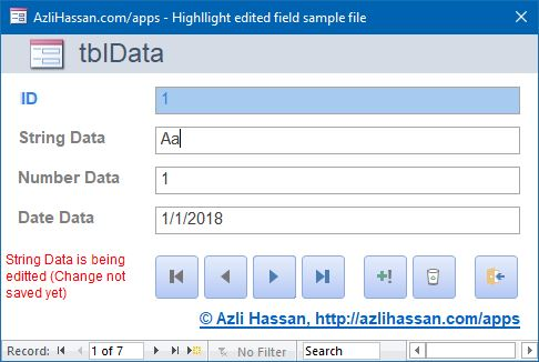 Highlighting edited form fields - using  Value,  OldValue