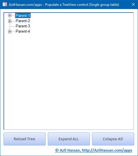 Populating TreeView using VBA (ActiveX Common Control)